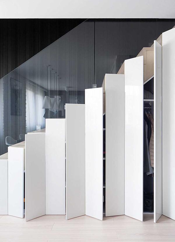Garderob under trappan