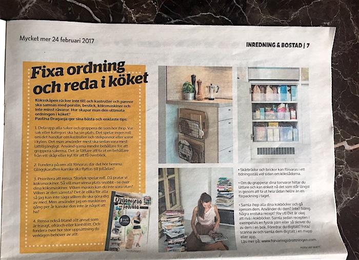 Skånska Dagbladet - ordning i köket