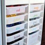 förvara och organisera Lego efter färg - IKEA trofast