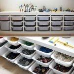 förvara och organisera lego med IKEA Trofast
