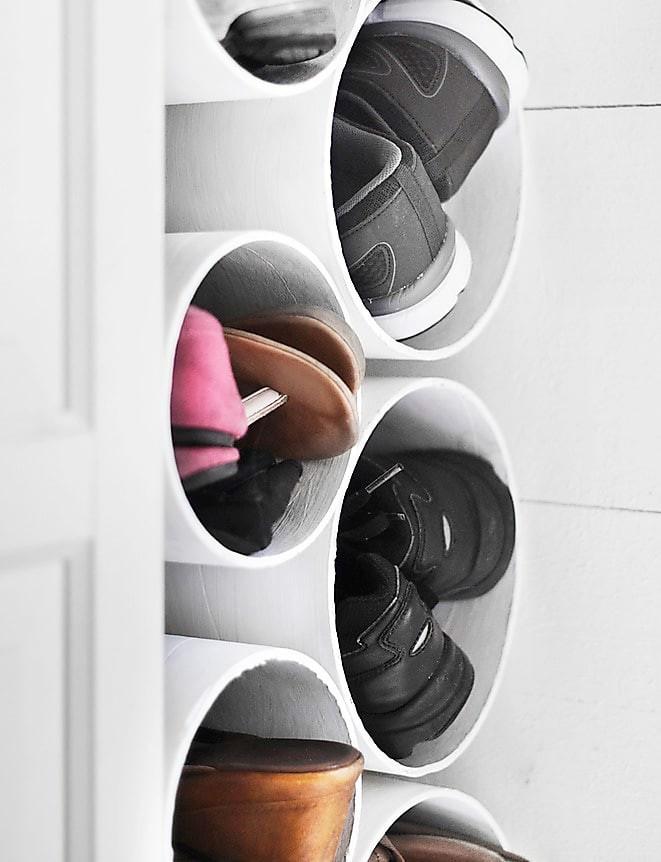 Smart skoförvaring i trånga utrymmen som hallen Gör det själv, Hall, Platsbyggd förvaring