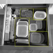 organisera matlådor