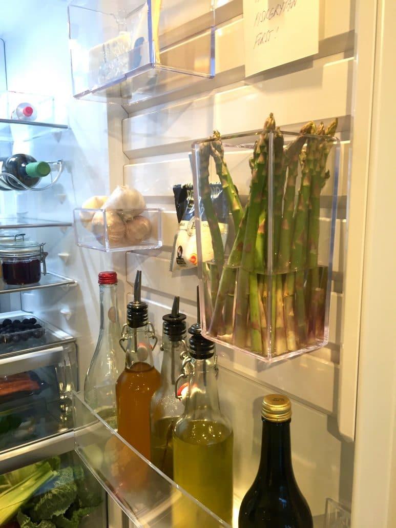 flexibel förvaring på Electrolux kylskåpsdörr