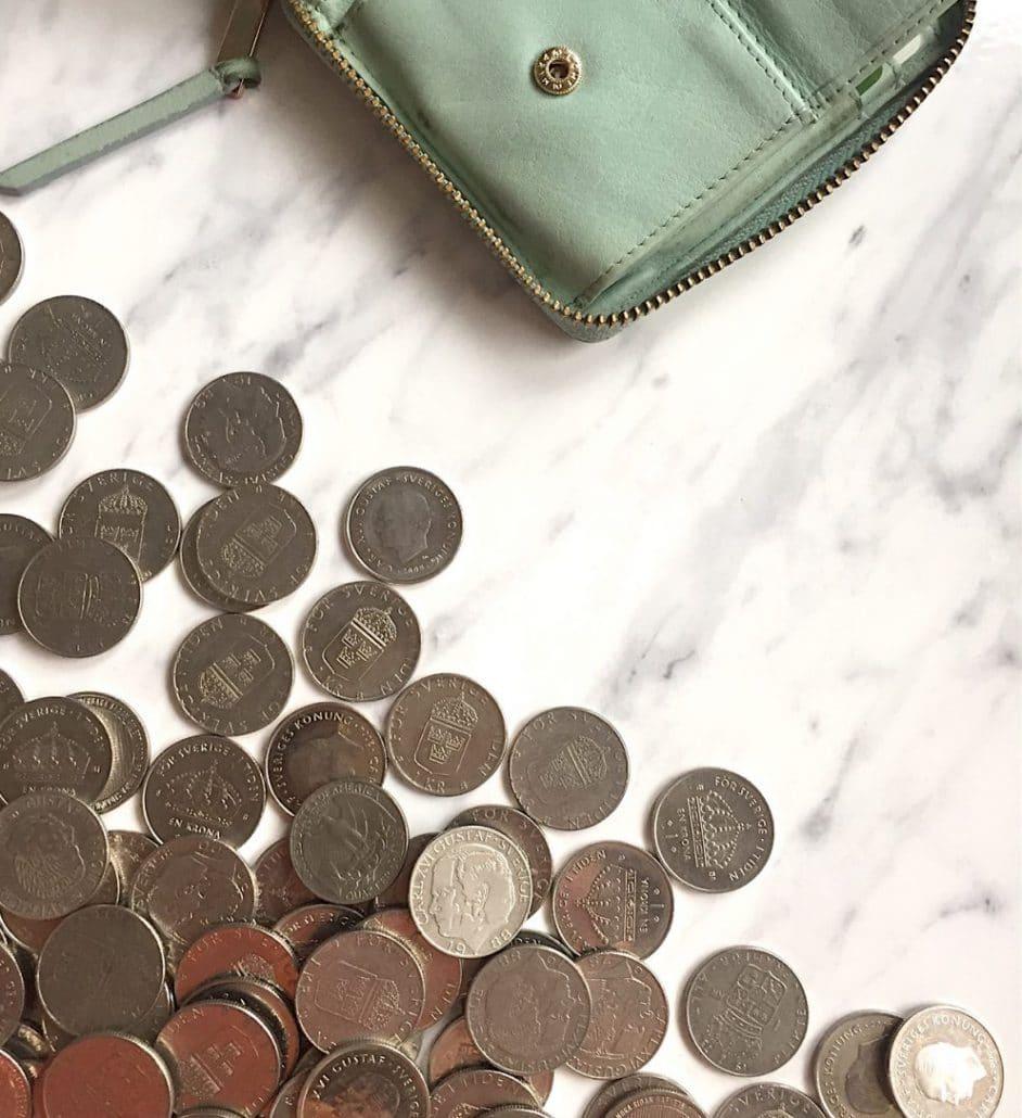 växla mynten förvaringsdrottningen