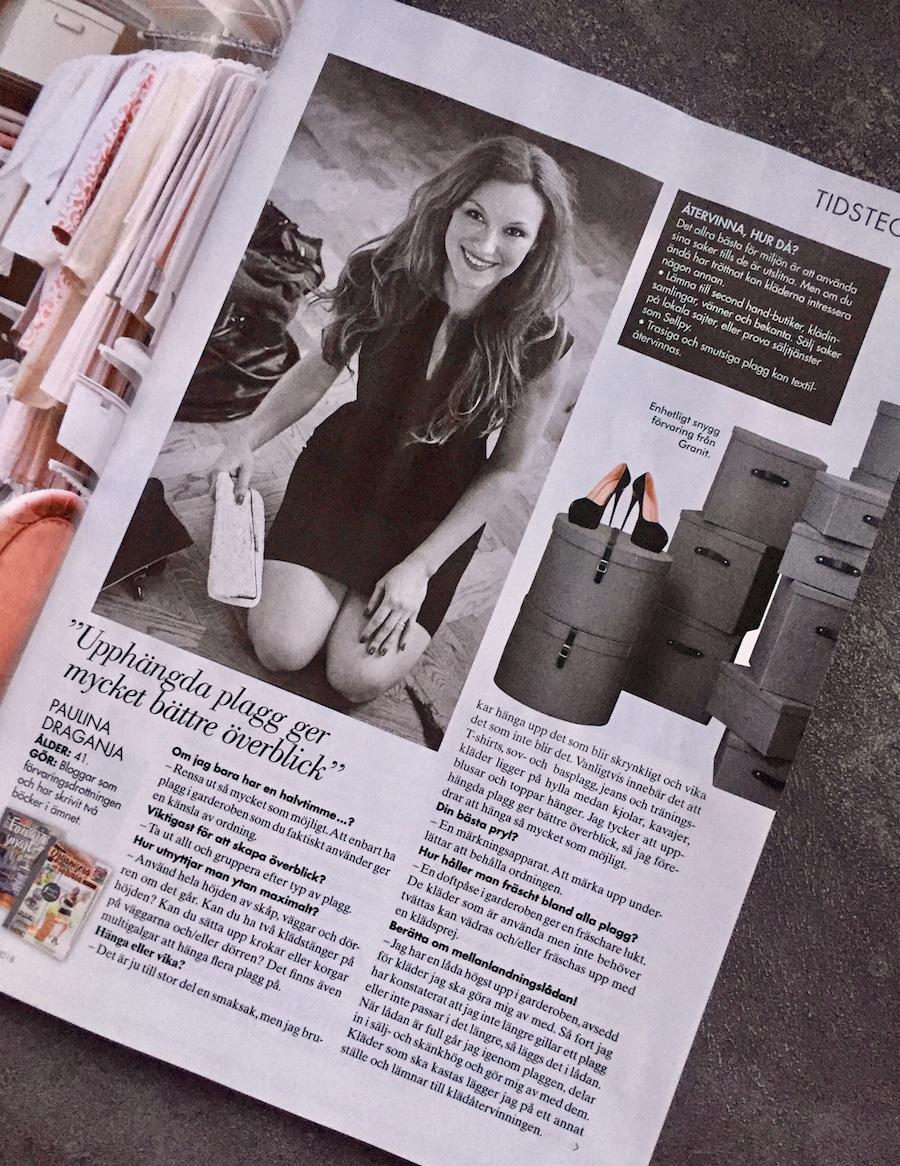 Om garderoben och att återvinna kläder - Paulina Draganja Förvaringsdrottningen Femina