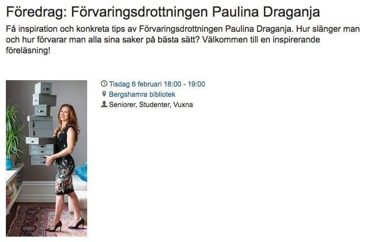 Föreläsning i Stockholm