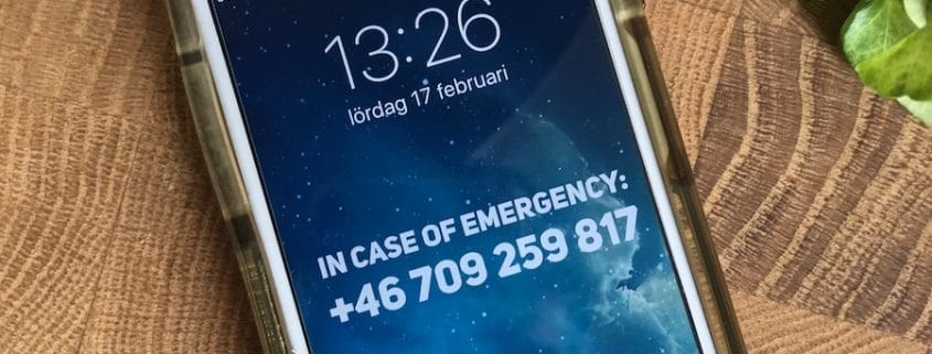 In case of emergency - få tillbaka din mobil