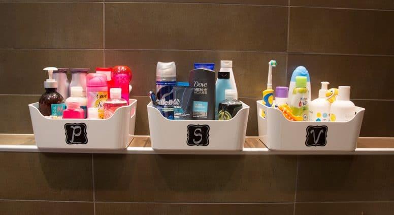 badrummet - organisera per användare