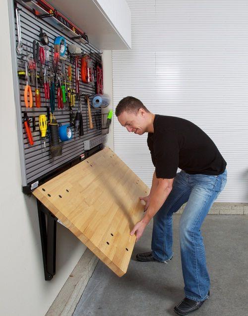 utfällbart bord garaget