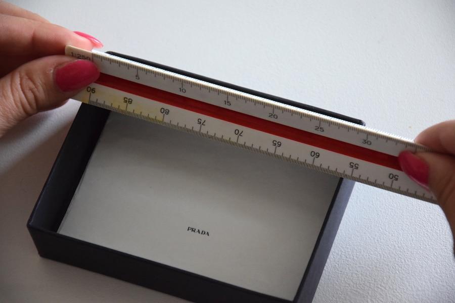DIY ringförvaring - mät upp boxen