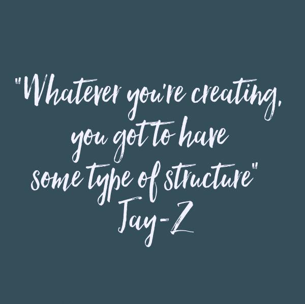 Även kreativitet behöver struktur - Jay-Z