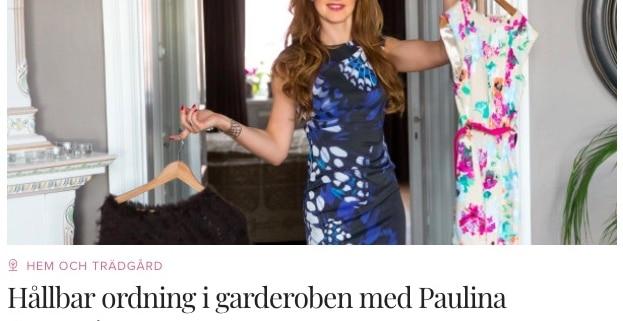 hållbar ordning i garderoben - onlinekurs Paulina Draganja Förvaringsdrottningen