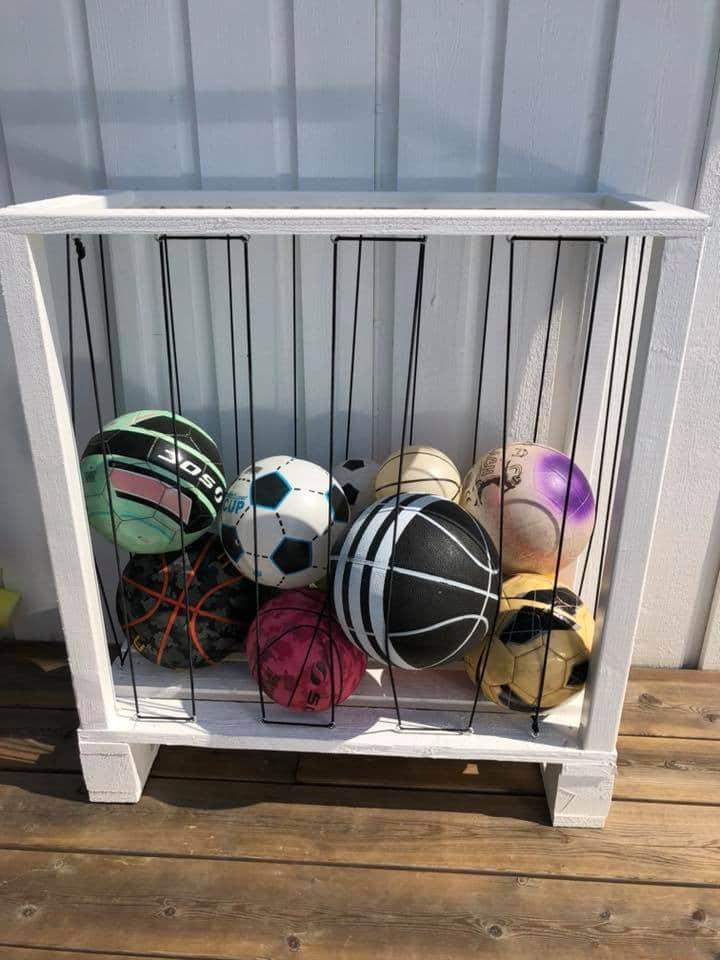 förvaring av bollar