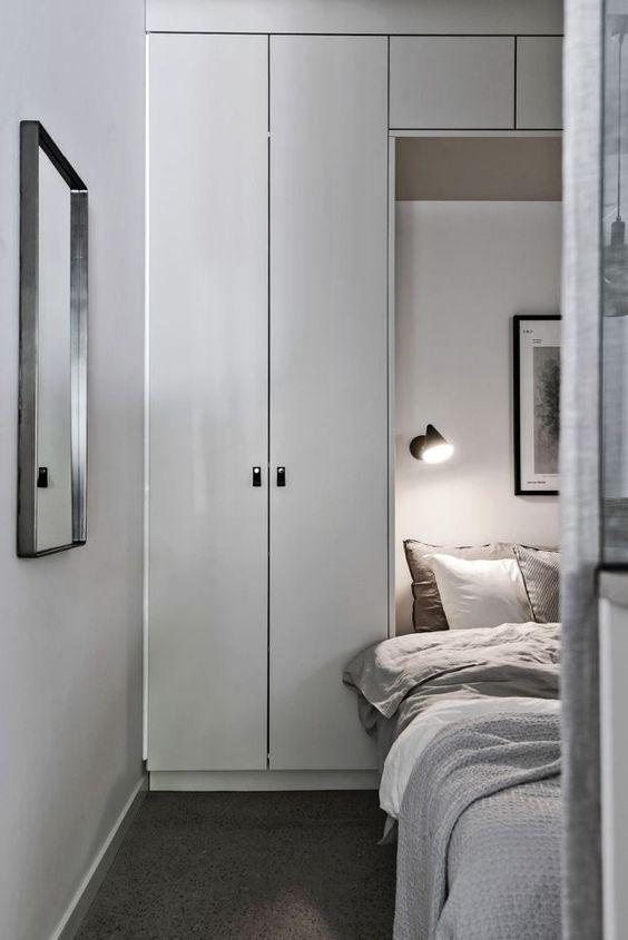 inspiration sovrum - förvaring runt sängen