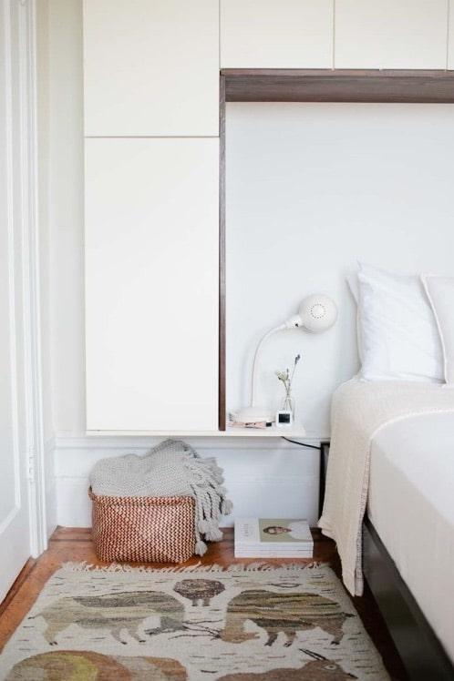 inspirerande sovrum med både snygg och bra förvaring