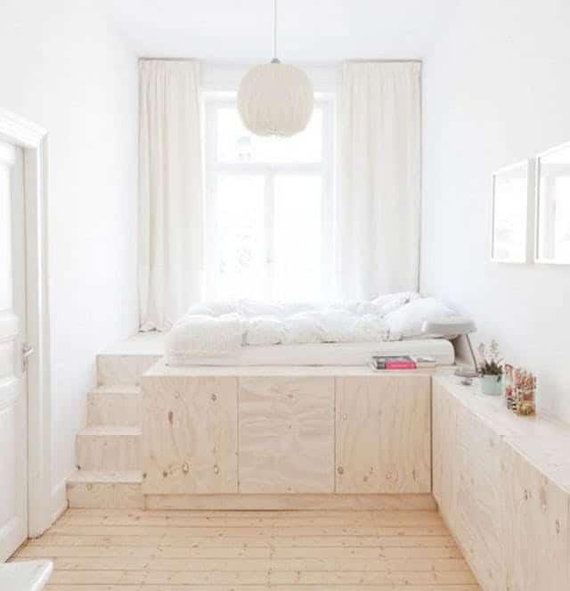 Inspirerande sovrum med bra förvaring
