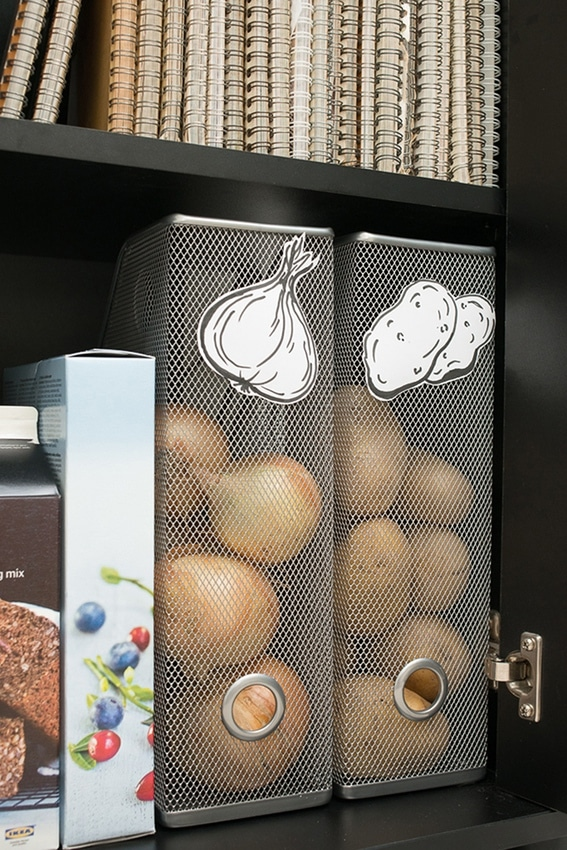 Magasinhållare som rotfruktsförvaring