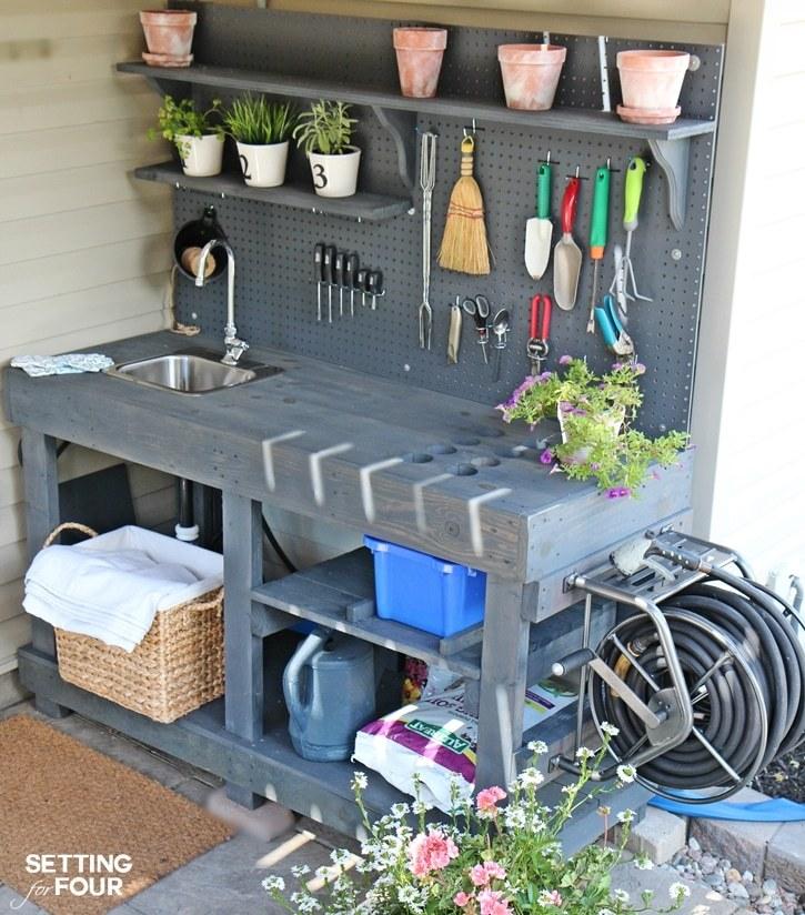 arbestbänk trädgård