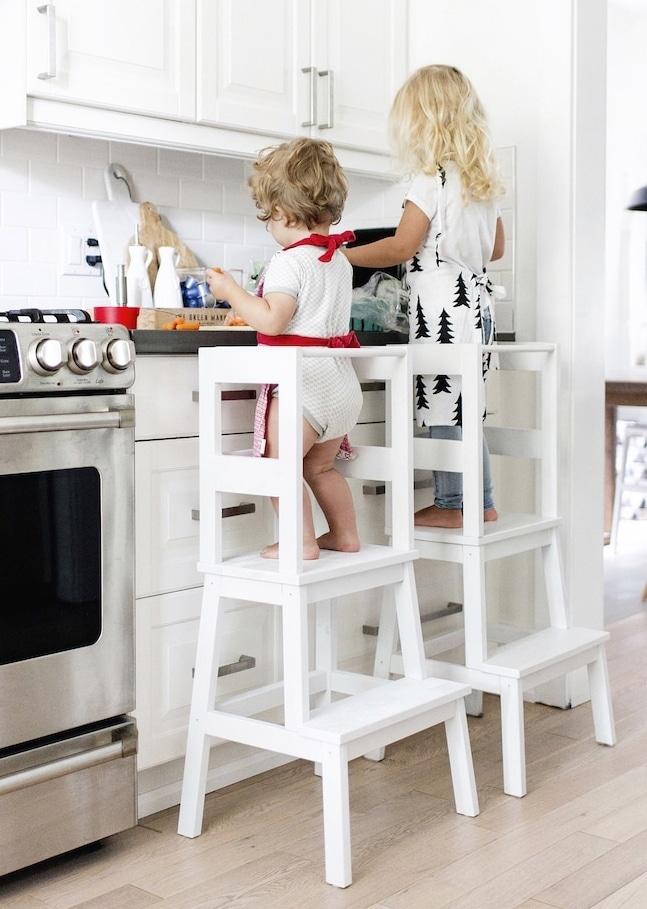 IKEA Hacks lära sig laga mat stol åt barnen