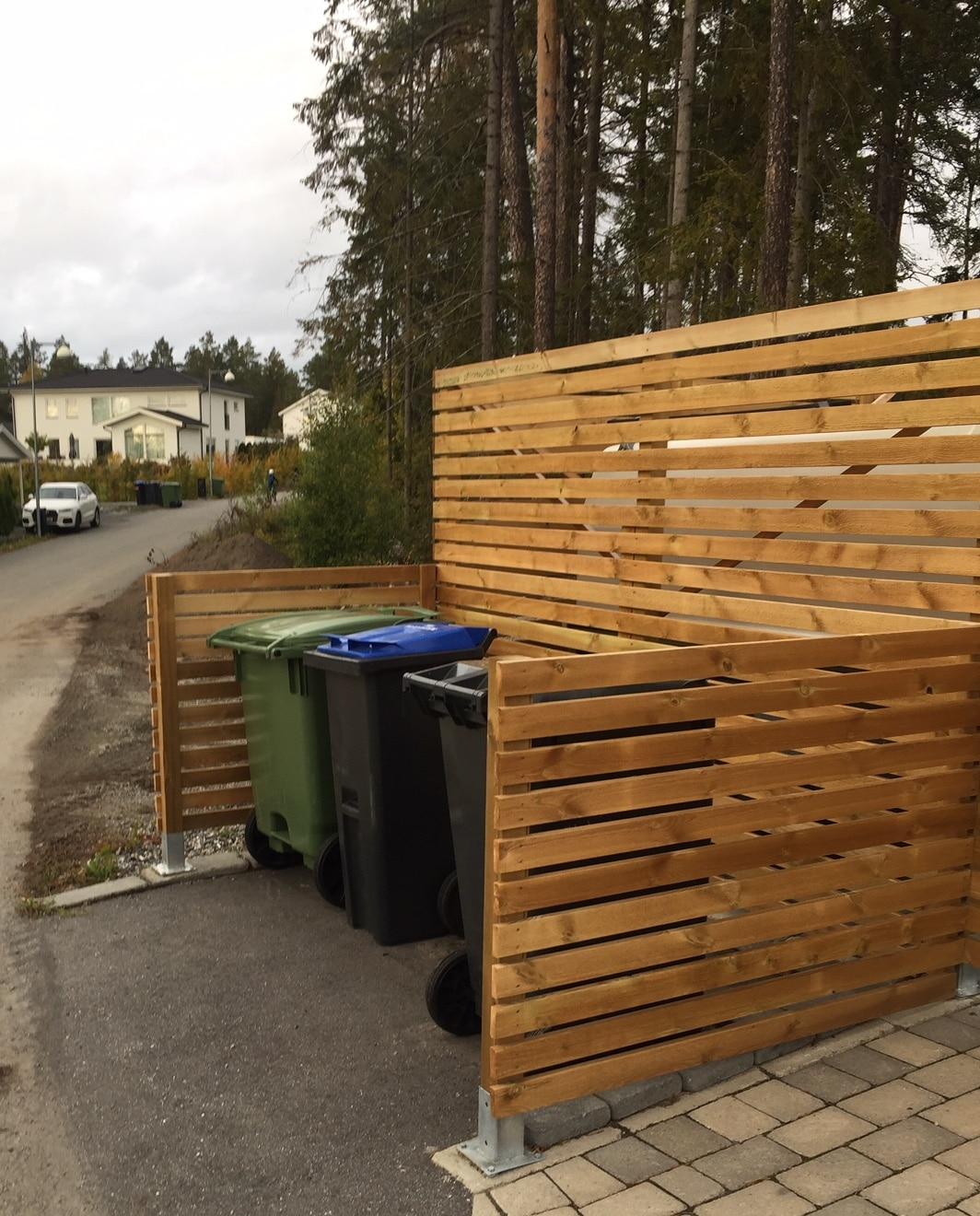Sopkärlskydd trä