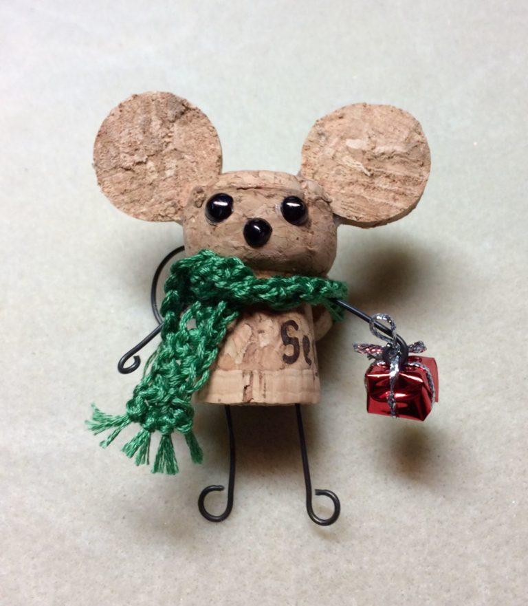 mus gjord av vinkork