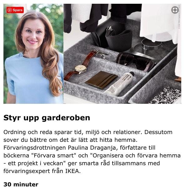 Paulina Draganja Förvaringsdrottningen IKEA föreläsningar Stockholm
