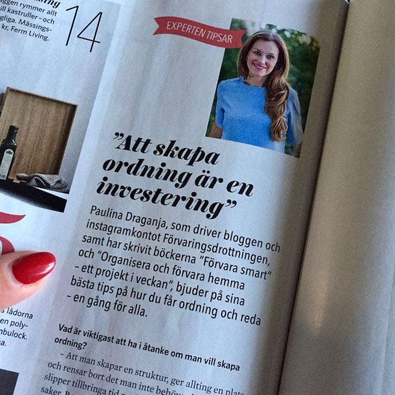 Paulina Draganja Förvaringsdrottningen Leva & Bo