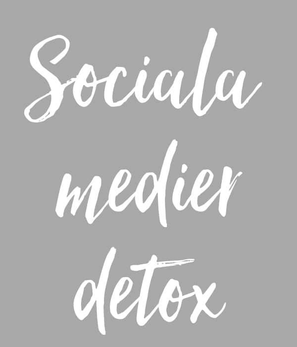Sociala medier detox