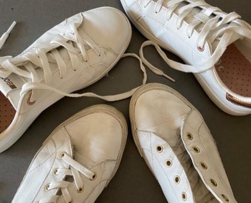 rengöra sneakers